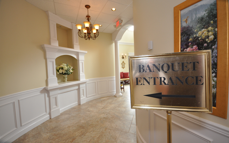 Entrance to Banquet Facility
