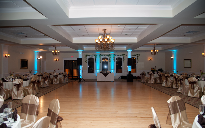DJ Entertainment Setup at Testa's Wedding Facility