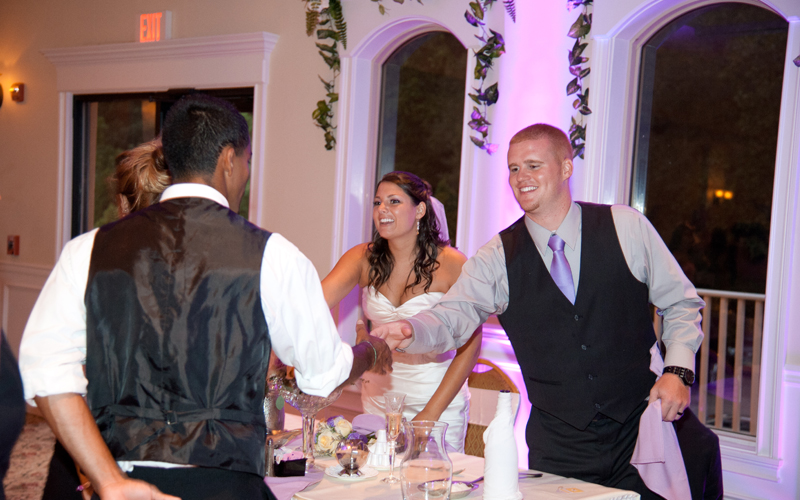 Wedding Couple Meeting Staff at Testa's
