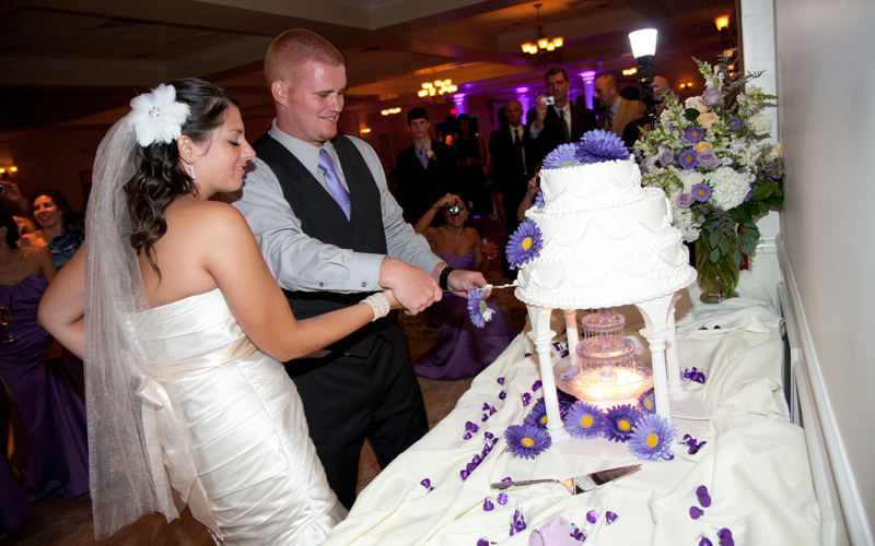 Bride & Groom Cake Cutting Ceremony
